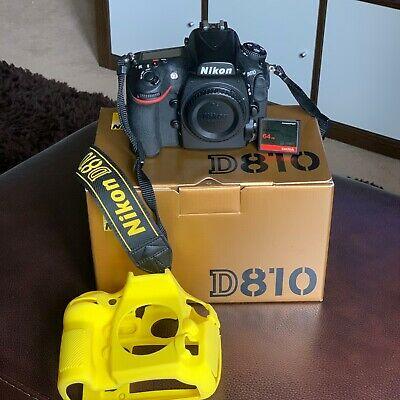 Nikon D810 Body Only - Black + Sandisk Extreme 64GB CF card