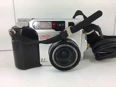 Olympus CAMEDIA C-ZOOM 2.1MP Digital Camera - Black &