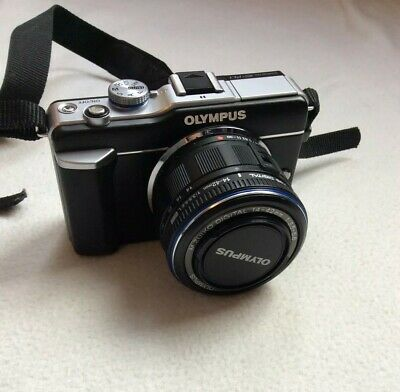 Olympus PEN E-PLMP Digital Camera - Black (Kit w/