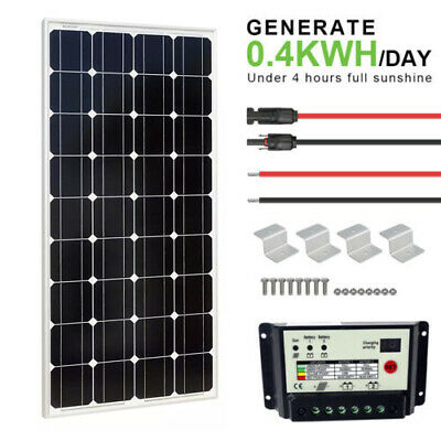 100W 12V Off Grid Kit 100W Mono Solar Panel & 20A Dual