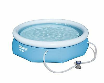 Bestway Inflatable Fast Set Swimming Pool with Pump, 10 feet