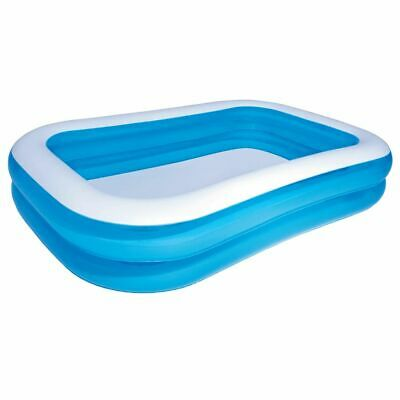 Bestway Inflatable Pool Blue and White 262x175x51cm Above
