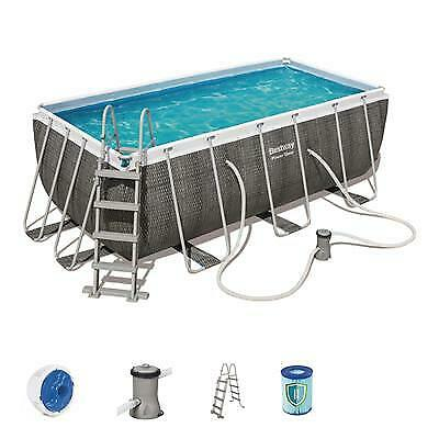 Bestway Power Steel Rectangular Frame Pool Set - 13ft 6in x