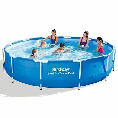 Bestway Swimming Pool Round 366x76cm Steel Frame with Mesh