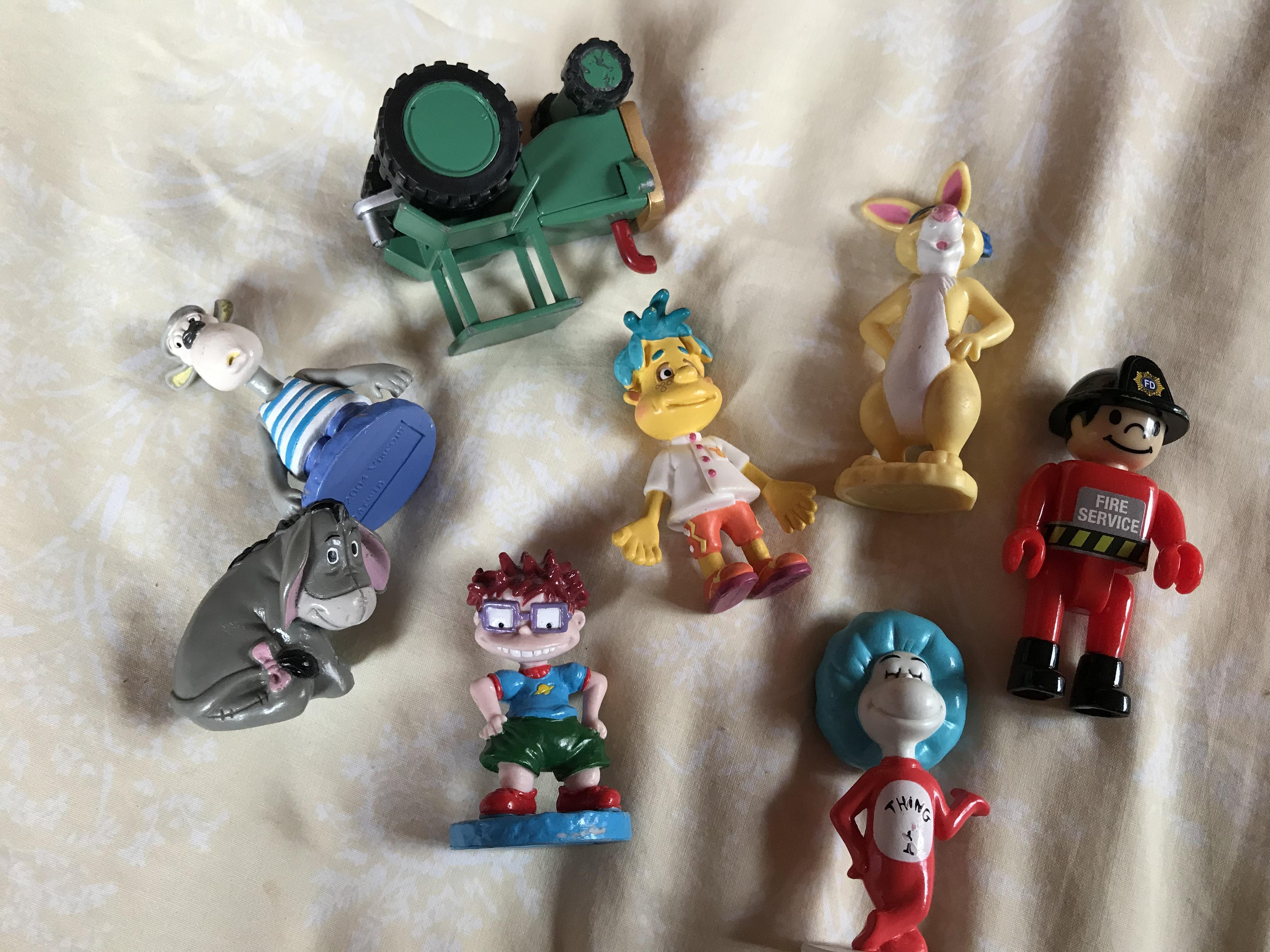 Cartoon characters.