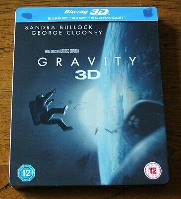 Gravity 3D Blu Ray Steelbook