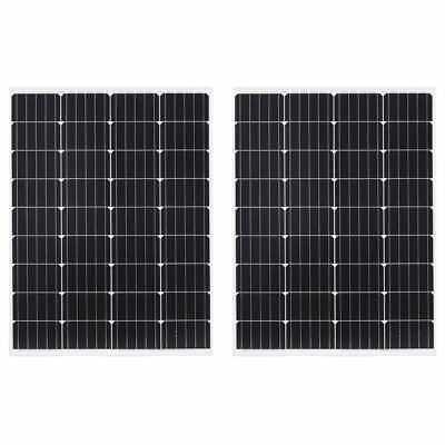 vidaXL 2x Solar Panel Monocrystallin e Aluminium Safety