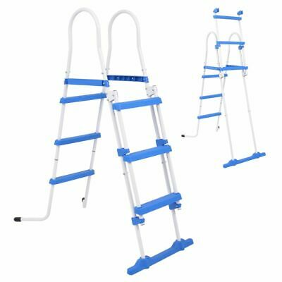 vidaXL Above-Ground Pool Safety Ladder 107 cm with 3 Non