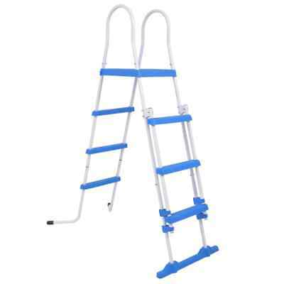 vidaXL Above-Ground Pool Safety Ladder 122 cm with 3 Non