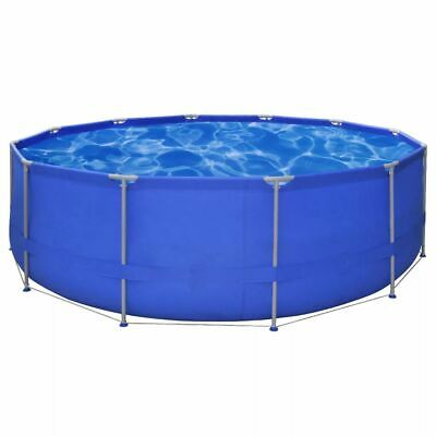 vidaXL Swimming Pool Steel Frame Round 457x122cm Above