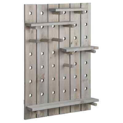 Esschert Design Pegboard Grey Garden Wallboard Storage
