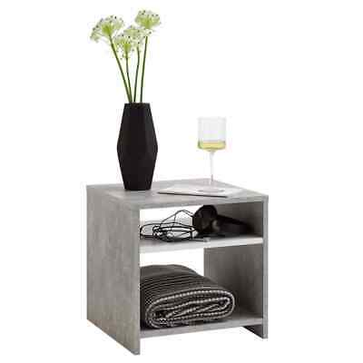 FMD Coffee Table with Shelf Concrete Grey and White Living