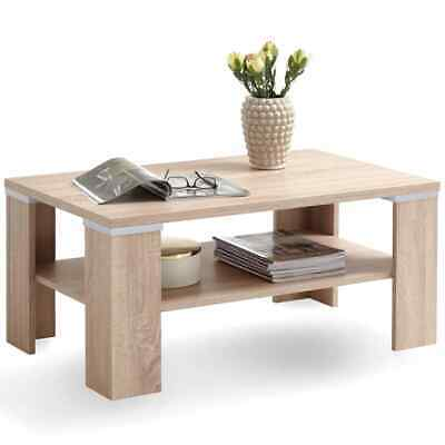 FMD Coffee Table with Shelf Oak End Side Hall Tables Home