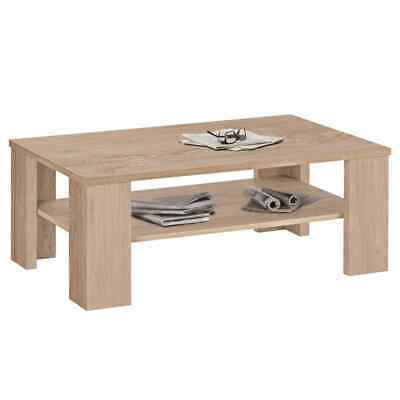 FMD Coffee Table with Shelf Oak Tree Home Interior Furniture