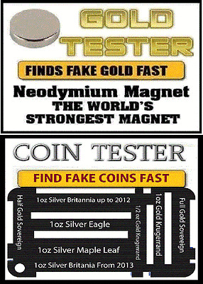 Rare Earth Magnet and coin Testing jig 24ct Scrap Gold great