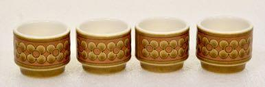 Vintage 's Hornsea Saffron a set of four Egg Cups in