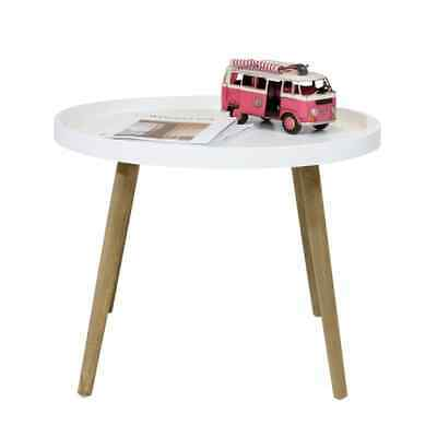 bhp Coffee Table with Wooden Legs White MDF Living Room