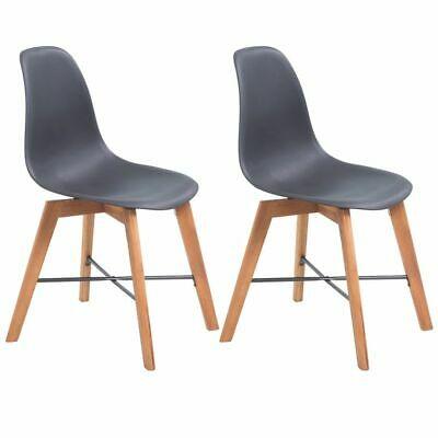 vidaXL 2x Dining Chairs Black Kitchen Living Room Home