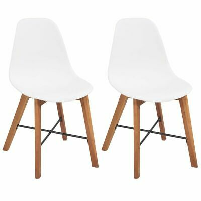 vidaXL 2x Dining Chairs White Kitchen Living Room Home