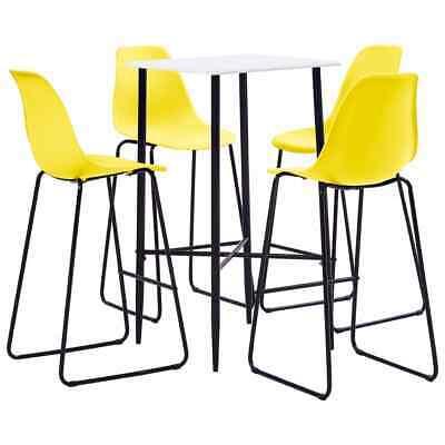 vidaXL 5 Piece Bar Set Plastic Yellow Pub Bistro Dining