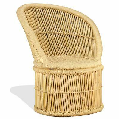 vidaXL Bamboo Chair 60x61x82cm Handmade Outdoor Garden