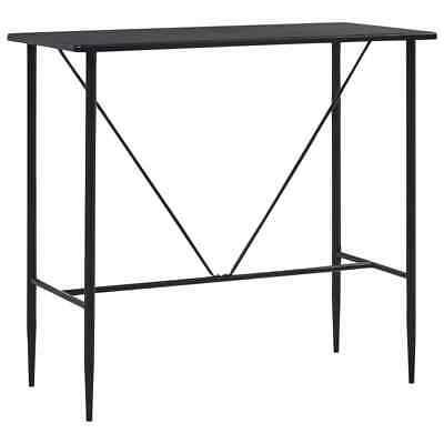 vidaXL Bar Table Black 120x60cm MDF Bistro Table Coffee Desk