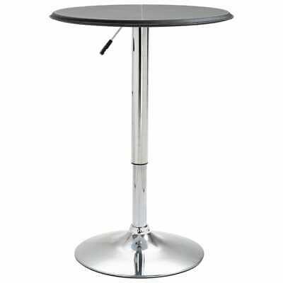 vidaXL Bar Table Black Ø60cm MDF Kitchen Dining Room