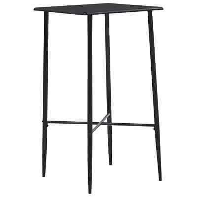 vidaXL Bar Table Black 60x60cm MDF Bistro Table Coffee Desk