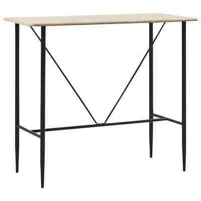 vidaXL Bar Table Oak 120x60x110cm MDF Bistro Table Coffee