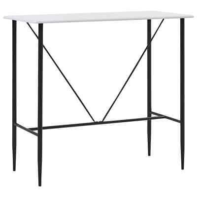 vidaXL Bar Table White120x60x11 0cm MDF Bistro Table Coffee