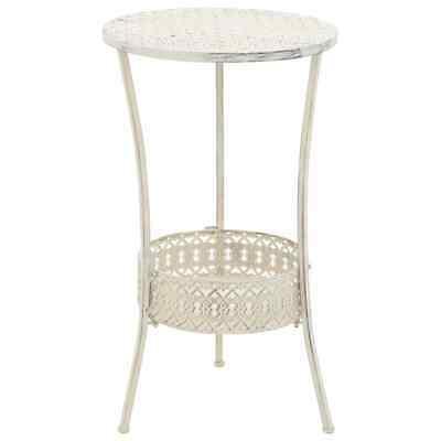 vidaXL Bistro Table Vintage Style Round Metal 40x70cm White