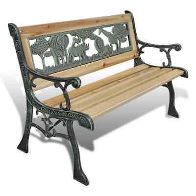 vidaXL Children Garden Bench 80cm Wood Outdoor Patio Park