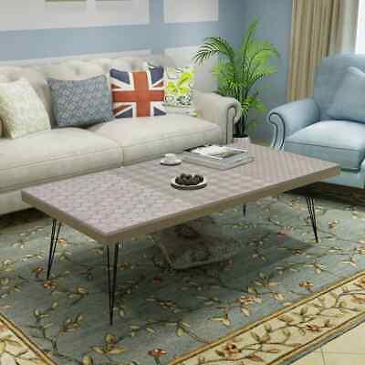 vidaXL Coffee Table 120x60x38cm Grey Side End Living Room
