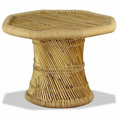 vidaXL Coffee Table Bamboo Octagon 60x60x45 cm Living Room