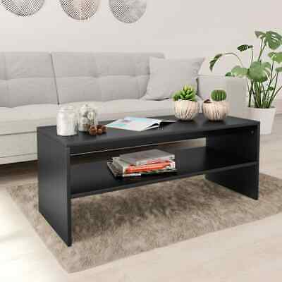 vidaXL Coffee Table Black Chipboard Couch End Side Telephone