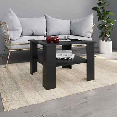 vidaXL Coffee Table Black Chipboard Couch Side Dining