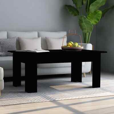 vidaXL Coffee Table Black Chipboard Living Room Couch End