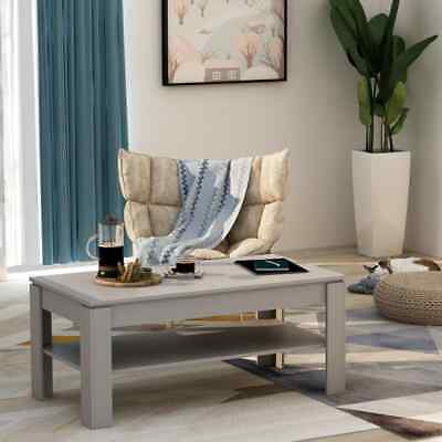 vidaXL Coffee Table Concrete Grey 110cm Chipboard Living