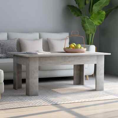 vidaXL Coffee Table Concrete Grey Chipboard Home Couch End