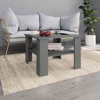 vidaXL Coffee Table Grey Chipboard Couch Side Dining