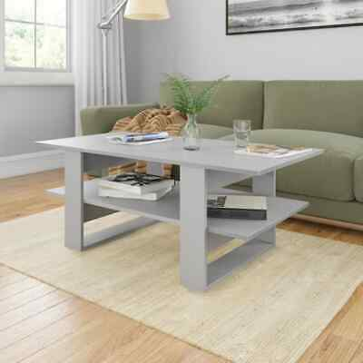 vidaXL Coffee Table Grey Chipboard End Side Telephone Small