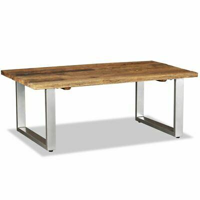 vidaXL Coffee Table Solid Reclaimed Wood 100cm Tea Stand