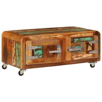 vidaXL Coffee Table Solid Reclaimed Wood Living Room Tea