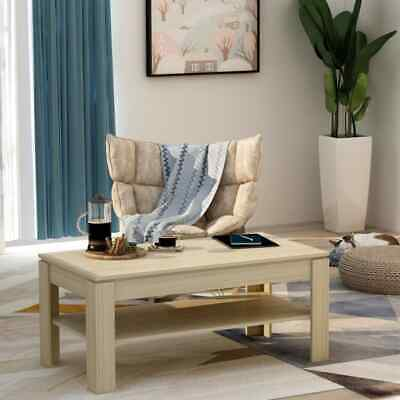 vidaXL Coffee Table Sonoma Oak 110cm Chipboard Living Room