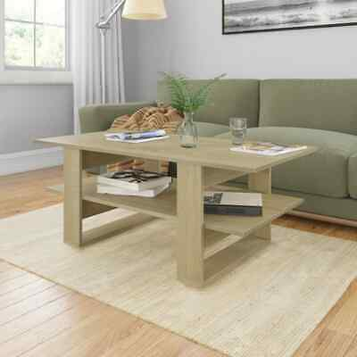 vidaXL Coffee Table Sonoma Oak Chipboard End Side Telephone