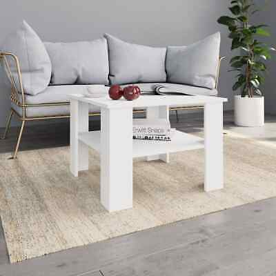 vidaXL Coffee Table White Chipboard Couch Side Dining