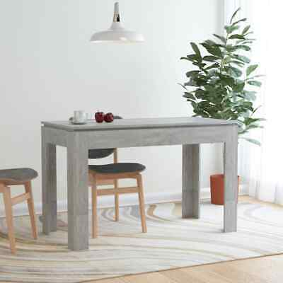 vidaXL Dining Table Concrete Grey Chipboard Kitchen Dining