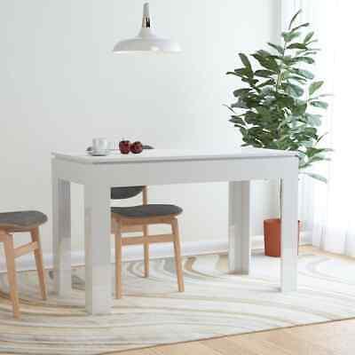 vidaXL Dining Table High Gloss White 120cm Chipboard Kitchen