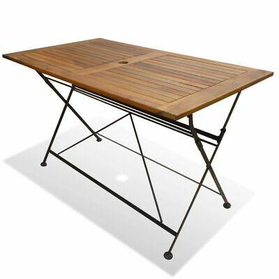 vidaXL Folding Garden Table Acacia Wood 120x70x74cm Outdoor