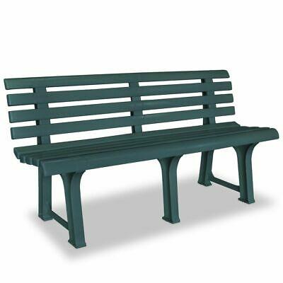 vidaXL Garden Bench x49x74cm Plastic Green Outdoor